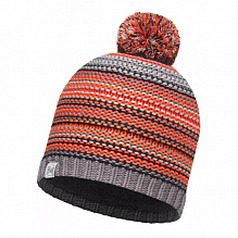 Шапка BUFF JUNIOR KNITTED & POLAR HAT BUFF AMITY GREY CASTLEROCK-GREY CASTLEROCK-Standard/OD