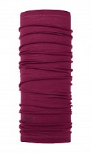 Бандана BUFF LIGHTWEIGHT MERINO WOOL SOLID PURPLE RASPBERRY