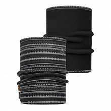 Шарф BUFF REFLECTIVE BUFF REVERSIBLE POLAR NECKWARMER BUFF PICUS GREY / BLACK/OD