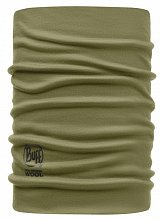 Шарф BUFF MERINO WOOL NECKWARMER BUFF SOLID LIGHT MILITARY-LIGHT MILITARY-Standard
