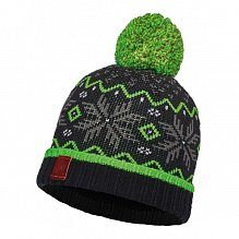 Шапка BUFF JUNIOR KNITTED & POLAR HAT BUFF NESTER BLACK-BLACK-Standard