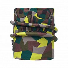 Шарф BUFF REVERSIBLE POLAR NECKWARMER JR & CHILD BLOCK SKULL KHAKI