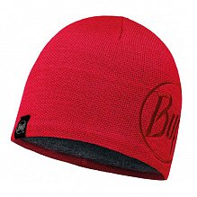 Шапка BUFF ACTIVE COLLECTION KNITTED & POLAR HAT BUFF SOLID LOGO RED SAMBA