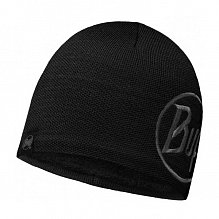 Шапка BUFF ACTIVE COLLECTION KNITTED & POLAR HAT BUFF SOLID LOGO BLACK