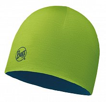Шапка BUFF MERINO WOOL REVERSIBLE HAT BUFF SOLID LIME-DEEP BLUE-LIME-Standard